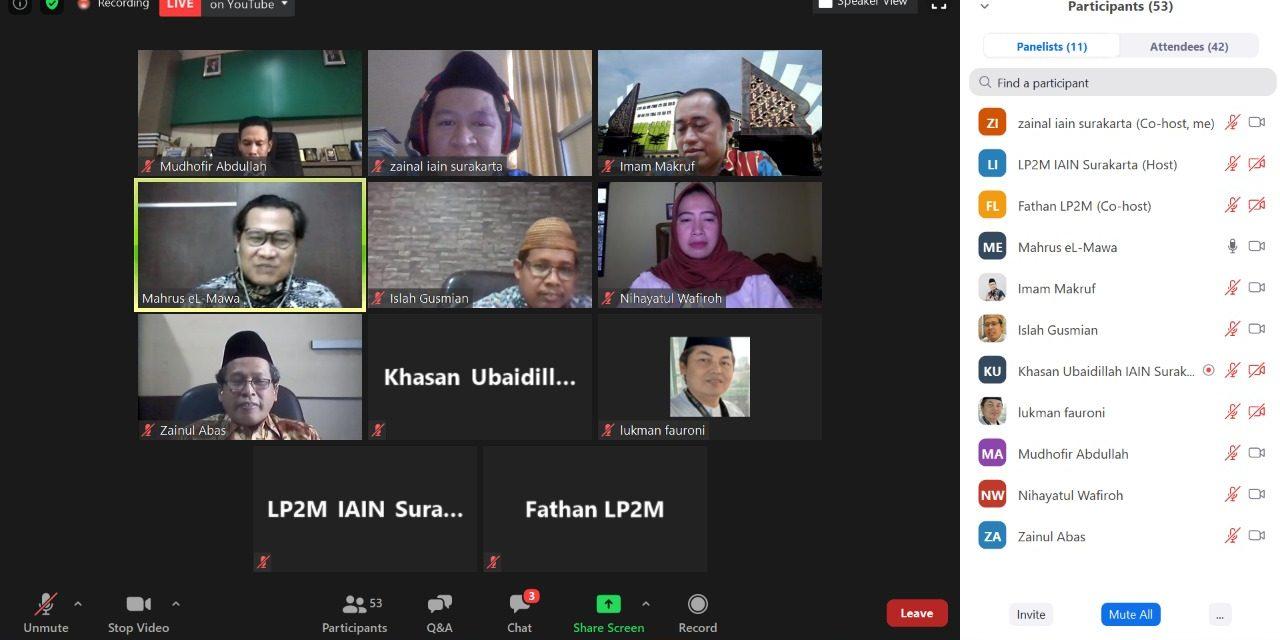 LP2M IAIN Surakarta Mensyukuri Lahirnya Buku 'Rahayu Nir Sambikala'
