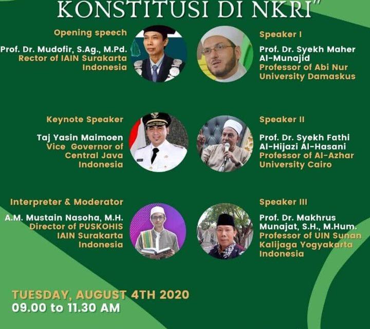 PUSKOHIS IAIN Surakarta Hadirkan 3 Ulama Dunia dalam Seminar Internasional
